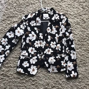 LOFT Flowered Blazer
